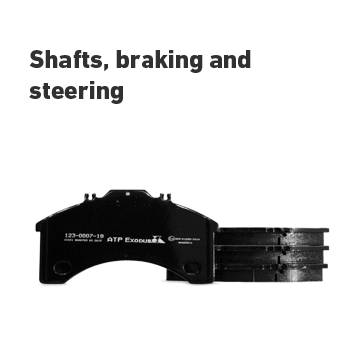 Shafts braking and steering